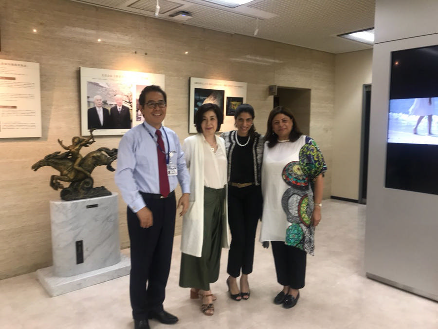 Mr. and Mrs. Koike with Mrs. Nafeesa and Ghazalah Moloobhoy