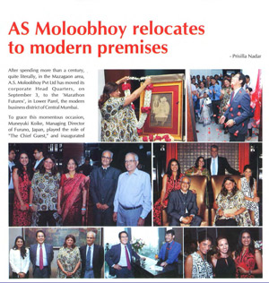 A. S. Moloobhoy relocates to Modern premises