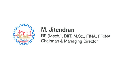 Cmde M Jitendran of Cochin Shipyard Limited is pleased with the excellent dealing and relationship.
