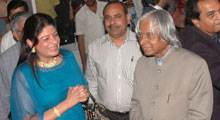 Dr.Kalam, Ex-President of India, met Mrs. Moloobhoy @ Shipping & Marine Expo 2008