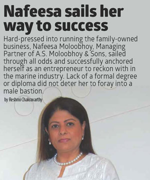 Nafeesa sails her way to success