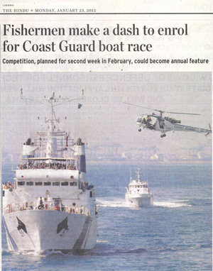 Fishermen make a dash to enrol for Coast Guard boat race